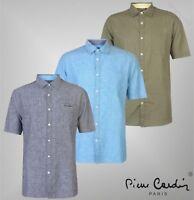 Mens Pierre Cardin Top Short Sleeve Linen Shirt Sizes from S to XXXL