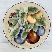 Napa Valley Noble Excellence Fruit Salad Dessert Plates Set 4 Round 9""