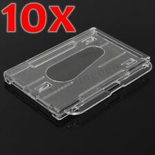 10pcs/ set Horizontal Hard Plastic Clear Badge ID Credit Card Cover Case Holder