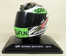 More details for altaya 1/5 scale alvaro bautista 2013moto gp helmet with plinth and case