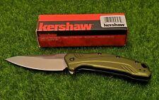 "Kershaw Link 3.25"" 20CV Folding Blade Olive Green Aluminum Handle - 1776OLSW"
