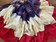 """Antique Vintage Patriotic Bunting Cotton Gauze Red White and Blue 7 Yards x 36"""""""