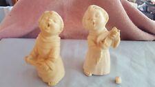 LOT 2 religious musical choir boy resin figurines by sculptor A. SANTINI ITALY