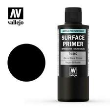 VALLEJO PAINTS 74660 200ml GLOSS Black Surface Primer Acrylic-PolyFREE SHIP