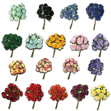 Combo Bulk Pack 216 Assorted Craft Flower Many Colours Mini Paper Rose Mulberry