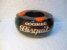 """Ancien cendrier publicitaire """" COGNAC BISQUIT """" (céramique  Ricard )"""