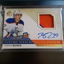 2015-16 UPPER DECK SP AUTHENTIC CONNOR MCDAVID FUTURE WATCH AUTO PATCH /100 SP