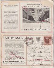 ITALIA1924 GENOVA BITUMASTIC VERNICE ANTIRUGGINE DOPPIA CARTOLINA CANALE PANAMA