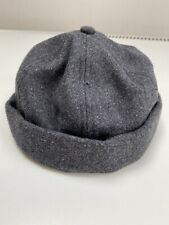 Urban Outfitters Charcoal Grey Wool Dockers Cap Hat.