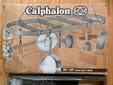 """New listing New Calphalon 20 x 56"""" Oval Pot Rack Hard Anodized New-In-Box"""