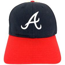 Atlanta Braves Hat Snapback Cap Logo Baseball Adjustable Trucker Navy 47 Brand