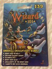 Undersea Enchantment Wizard 101 Bundle Game Card  Crowns Chariot Mount Seahorse