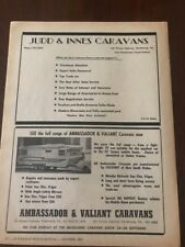 1968 Ambassador Valiant Caravans Judd Innes vintage Automobilia magazine advert