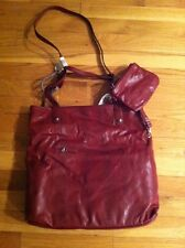 STYLE&co. AUTUMN OXBLOOD RED SHOPPER BUSINESS TOTE BAG WITH WRISTLET $69.99 BNWT