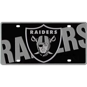 Las Vegas Raiders NFL Mega Laser Cut License Plate