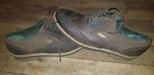 BARBOUR mens Brown Leather Lace Up Brogue Shoes, Size 9 NEW, RRP £165