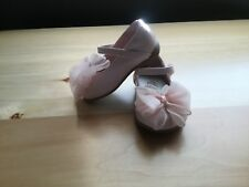 Teeny toes pink baby dress shoes