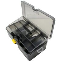 Double Layer Fishing Tackle Box Lures Bait Storage Case Organizer Container B1F3