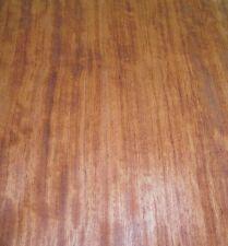 "Bubinga Figured African wood veneer 15"" x 66"" raw no backing 1/42"" thickness ""A"""