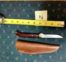 Vintage Custom Hand Made Signed Hunting Fishing Knife & Sheath (MINT CONDITION)