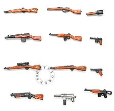 12pcs Custom Guns Lot WW2 Machine Rifle Military Toy Weapons 4 LEGO Minifigures!