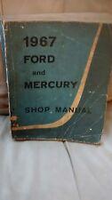 1967 Ford and Mercury shop manual original 1st printing