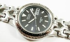 Seiko Sports Silver Tone Stainless Steel 7N43-6C0W BLK Sample Watch NON-WORKING