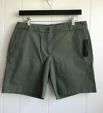 Talbots Women The Weekend Shorts Chino Sz 6 Olive Green Cotton/Spandex New w/Tag
