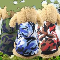 Warm Camouflage Printed Dog Hoodies Pet Puppy Dog Cat Coat Outwear Costumes 2019
