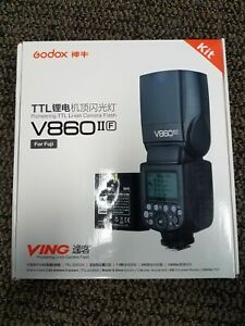 Brand New Godox Flash Ttl V860 II With Lithium Battery For Fujifilm