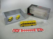 AA595-0,5# Schuco H0 25584 Set Bundespost: Volkswagen T1 + T2, MB Bus, NEUW+OVP