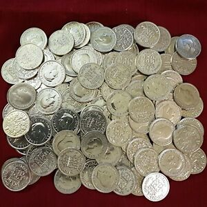 Shiny SILVER Sixpence : 1920-1946 : Lucky Birthday Wedding 6d Coin : Choose Year