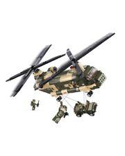 Sluban Chinook Big Helicopter & Figures Army Construction brick set Childs B0508