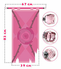 Rose Quartz battle flag, lifesize banner, Steven Universe, Crystal Gems