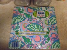 Vintage 1970's - 1980's Wedding Shower Gift Wrap Paper - Flower Power