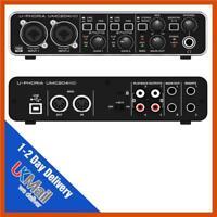 Behringer U-PHORIA UMC204HD Audiophile 2x4, 24-Bit/192 USB Audio/MIDI Interface