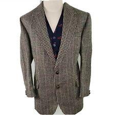 Donegal Windowpane Tweed Blazer Jacket Coat Men Sz 44R Side Vent Hunting Ireland