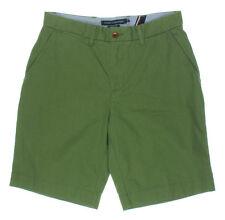 NEW Mens Tommy Hilfiger Moss Green Twill Classic Fit Khaki Chino Shorts Sz 30