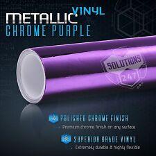 "60""x72"" Inch Purple Chrome Mirror Vinyl Wrap Film Sticker Decal Air Bubble Free"