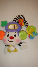 Fisher-Price Rainforest Musical Monkey Light-Up Plush Teether Attach N Play
