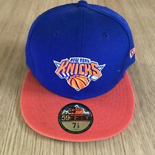 New Era New York Knicks NBA 59 Fifty Fitted Bleu Taille 7 1/8 Orange
