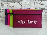 Personalised Pencil Case Make Up Bag Custom Text Print School Teacher gift