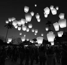 Faroles del cielo 10 paquete de Color multi Flying linterna chinos Fiesta Biodegradable