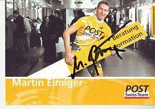 CYCLISME carte cycliste MARTIN ELMINGER équipe POST SWISS TEAM signée