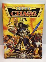 Games Workshop CODEX: CHAOS Warhammer 40k Supplement 1996 SC VG+ OOP