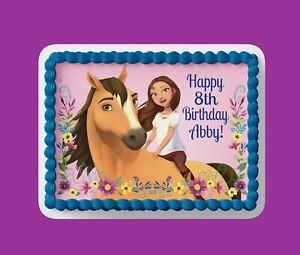 Custom Edible Birthday Cake Topper/ Peel like a sticker