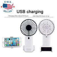 Mini USB Portable Fan Handheld Rechargeable Air Cooler Cooling Fan Phone Holder