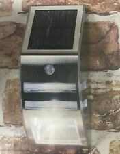GardenKraft 11270 Solar Wall Mounted Sensor Light - Stainless Steel