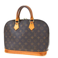 Authentic LOUIS VUITTON Alma Hand Bag Monogram Leather Brown M51130 65MD739