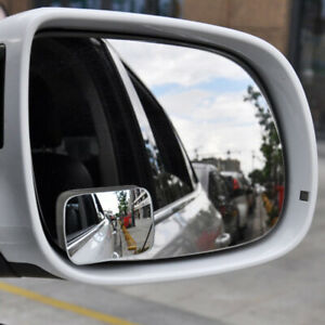 2x Car Rearview Mirror Blind Spot Side Convex View Wide Angle Van Adjustable